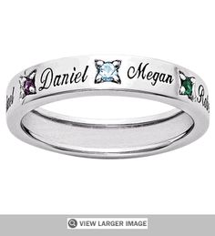 Personalized Mothers Birthstone Ring Absolutely want!!!!!