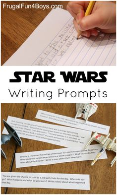 writing prompts writing prompts prompts and  printable star wars writing prompts