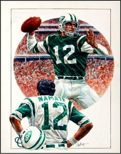 Vintage 1969 NY Jets Poster featuring Joe Namath. Great football memorabilia gift for any Jets fan. This ready-to-frame poster is printed to order on heavyweight satin photo paper. Buy with confidence. I stand behind everything I sell. If you are not satisfied please contact me so I can resolve your unmet expectations. Jets Football, Football Art, Football Helmets, Sports Art, Sports Logos, Joe Namath, Helmet Logo, Football Memorabilia, Professional Football
