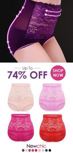 b26de1e59fb Lace High Waist Tummy Shaping Hip Lifting Panties is fashionable and cheap