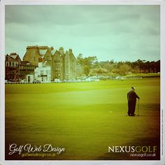 St Andrews Golf Club, looking down the first and back along the famous St Andrews Golf Club, Golf Clubs, Golf Courses, Saints, 18th, Santos