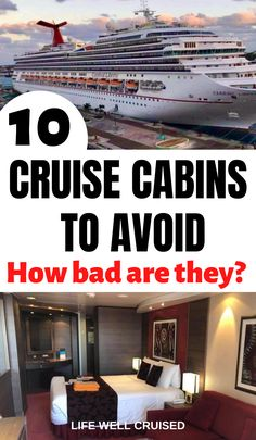 Follow these tips to avoid the worst cabins on a cruise, and choose the best stateroom for you and your family. Choosing a cruise cabin is a personal decision, however there are some cabin locations on a cruise ship that are better than others! Alaska Cruise Tips, Cruise Packing Tips, Cruise Travel, Cruise Vacation, Cruise Trips, Disney Vacations, Vacation Ideas, Vacation Spots, Cruise Excursions