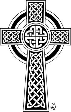 Traditional celtic cross design
