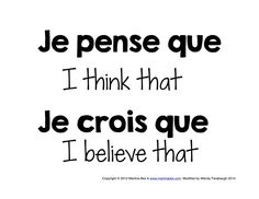 Classroom posters in French--vocabulary for academic writing, expressing opinion, storytelling words, and more! Free!!