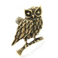 Antique Owl Shape Animal Ring