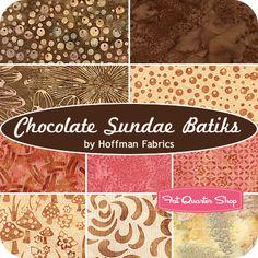 Chocolate Sundae Batiks Fat Quarter Bundle Hoffman Fabrics - Fat Quarter Shop