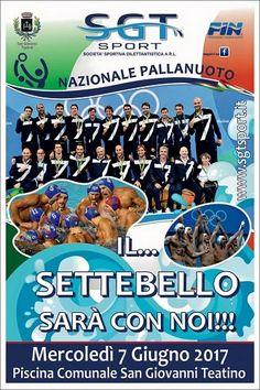 La Nazionale Italiana di Pallanuoto il 7 giugno a San Giovanni Teatino