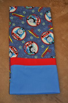 Thomas the Train Hot Dog Pillowcase made by Heirlooms from the Heart