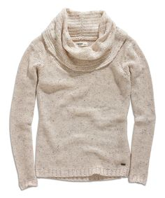 Love this Butter Cowl Neck Sweater by TIMEOUT on #zulily! #zulilyfinds