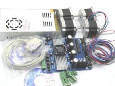 Sunwin 4 axis CNC TB6560 Stepper Motor Driver complete Kit + NEMA23 Stepper Motor *4 by Sunwin, http://www.amazon.com/dp/B009FX9EYQ/ref=cm_sw_r_pi_dp_EBTusb1Z7E6N6 4 Axis Cnc, Stepper Motor, Computer Accessories, Home Appliances, Kit, Electronics, Cnc Router, House Appliances, Domestic Appliances
