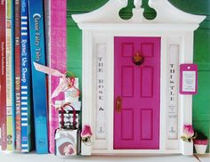 Purple Pink Fairy Door Princess and the Pea Fairy by TheStoryStop