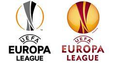 The new Europa League logo (left) and Futurebrand's 2009 mark Wave Design, Europa League, Company Logo, Waves, Football, Logos, News, Soccer, American Football