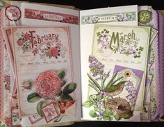 Graphic 45 Time to Flourish journal year book by Anne Rostad
