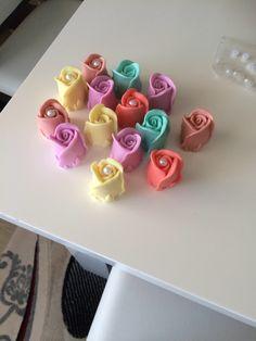 Renkli sabundan güller