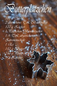 Rezept für die besten Butterplätzchen der Welt (www.rheintopf.com) #rezept…