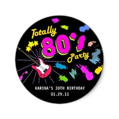 Personalised 80/'s RUBIX CUBE Photo STICKERS  Hen Night Party Bag Labels Birthday