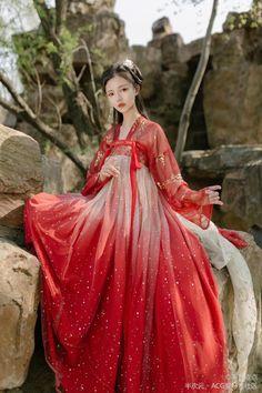 🍒民族衣装🍒 Chinese Clothing Traditional, Traditional Fashion, Traditional Dresses, Hanfu, Ancient China Clothing, Mode Kimono, Kimono Design, Cosplay Outfits, Costumes For Women