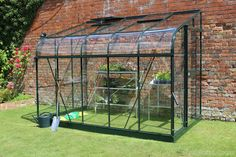 Halls Silverline Green 6x10 Lean to Greenhouse With Horticultural Glazing from Greenhouse Stores. http://www.greenhousestores.co.uk/Halls-Silverline-Green-6x10-Lean-To-Greenhouse-3mm-Horticultural-Glazing.htm