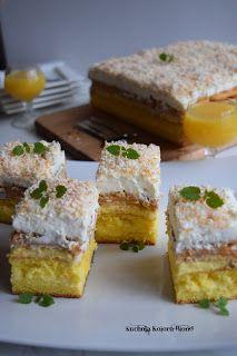 Kuchnia Koloru Blond: Ciasto Balowe C'est Bon, Cornbread, Banana Bread, Cheesecake, Blog, Ethnic Recipes, Lemon Squares, Food, Kitchens