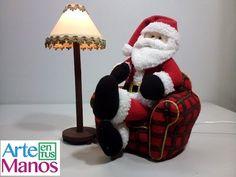 Hola Amigos   Como les prometimos, aquí esta el sillón para Santa Claus, para hacer complemento al proyecto anterior.   Esperamos les gust...