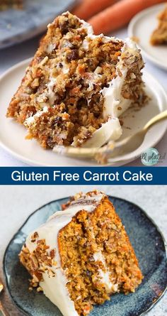This moist, fluffy Gluten Free Carrot Cake is made with almond flour, slathered in cream cheese frosting, and has the perfect classic taste and texture! Gluten Free Carrot Cake, Healthy Carrot Cakes, Gluten Free Sweets, Gluten Free Cakes, Healthy Sweets, Gluten Free Baking, Best Gluten Free Cake Recipe, Gluten Free Almond Cake, Healthy Baking