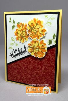 Stamp Tv, Arts And Crafts, Paper Crafts, Painted Leaves, Fall Cards, Stamping Up, Hello Everyone, Thank You Cards, Birthday Cards