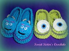 Adorable Monster's Inc Slippers.