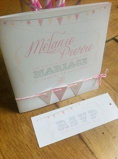 faire part mariage rétro romantique mini fanion baker twine | Sweet Paper