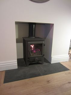 flush slate fireplace hearth