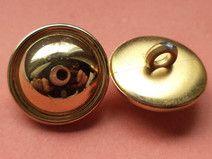13 kleine KNÖPFE gold 16mm (4475) Blusenknöpfe