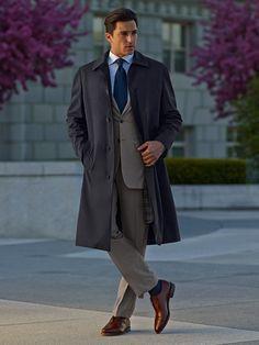 Tom James Company Tampa Bay Fall 2015 Outwear By Erik Peterson Top Coats, Casual Coats, Rain Coats, Mens Raincoat, Top Coat, Ready To Wear, Casual, How To Wear, Custom Jackets, Custom Suits, Rain Coats, Allen Edmonds