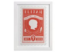 custom birth date stamp art at minted | baby shower gift guide