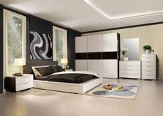 Furniture Design Bedroom Beauty Black And White Bedroom Interior Design  With Dazzling Cove Lighting Fine Large Window And Modern Furniture Artistic  ...