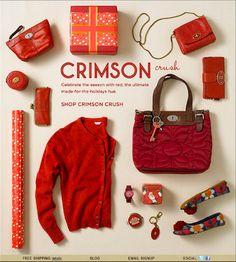 Crimson Crush – Clothing HTML email marketing design