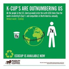 To live and protect the earth we have no other choice but to create new ways to be #sustainable #reusable & #Recyclable - The #EcoCup ♻️ is one way that we at #MarleyCoffee contribute to that mission - Rohan Marley @Romarley ☕️