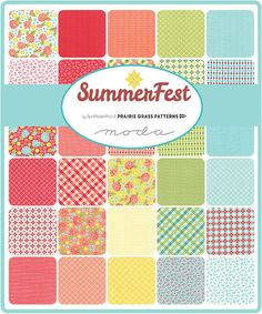 (40) 2.5 x 44/45 WOF (6.35 cm x 111.8/114.3 cm) 32 Individual Prints (several prints are repeated) Quilt shop quality, 100% cotton.  Summerfest is a celebration of Summer - that most magical season. The asphalt feels like a frying pan and the nights are breezy and balmy. Everywhere you look, the colors are bright, vibrant and cheerful – swimsuits, snow cones, tank tops and flip flops. The prints in Summerfest are inspired by fireworks, parades, picnics and flower gardens - the epito...