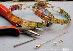 Wire wrapped bracelet tutorial