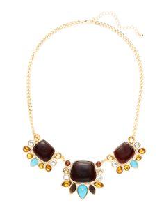 Triple Cluster Bib Necklace by Sparkling Sage at Gilt