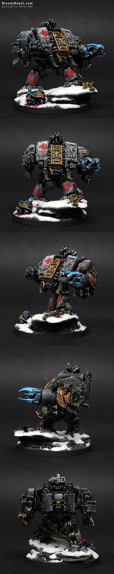 I've painted Bjorn the Fell-Handed to look like the one on the Battle of the Fang cover. Please check some photos with mini on plinth and comparison to the cover art. Figurine Warhammer, Warhammer 40k Miniatures, Warhammer 40k Space Wolves, Warhammer 40000, Chaos Daemons, Grey Knights, Dark Eldar, Far Future, Imperial Fist