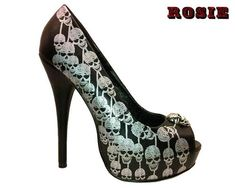 skull high heels - sometimes I really miss being able to walk in heels