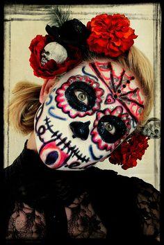 326/365: Day of the Dead Portrait by **Kel-Z**, via Flickr