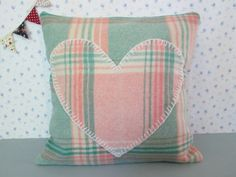 Handmade Welsh Blanket Cushion Cover with by OdditiesVintage