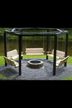 Porch swing circle, how awesome is this...!