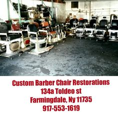 $$$AVAIL CHAIRS$$$$$ :-) Antique barber chair restoration  Metal finishes nickel and chrome plating, sand blasting,  Porcelain refinishing or your choice true porcelain, epoxy resin, powder coating  upholstry parts repair vintage koken, theo a kochs,emil j paidar, belmont interior design, decorating, prop rental, pickers  barber chair antique, vintage barbers chairs  FOR INFORMATION CALL 917-553-1619 OR EMAIL custombarberchairs@gmail.com