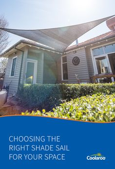 Thinking of installing a shade sail for your outdoor area? This guide will help you choose the right shade sail for your needs.