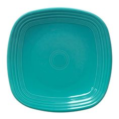 "Homer Laughlin 919107 Fiesta Turquoise 10 3/4"" Square Dinner Plate - 12 / Case $100"