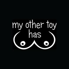 MY OTHER TOY HAS BOOBS Sticker Car Truck Window Hooters Vinyl Tits Decal Funny