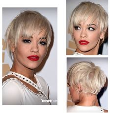 Rita Ora hair love it but would have it in jet black
