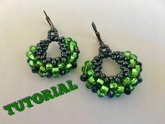 How to make peyote hoop earrings 3D earrings - YouTube