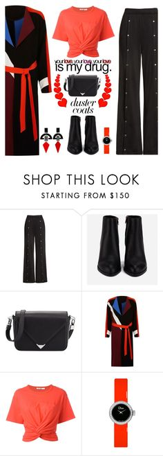 """""""Duster Coats"""" by shoaleh-nia ❤ liked on Polyvore featuring T By Alexander Wang, Alexander Wang, River Island, Christian Dior and Toolally"""